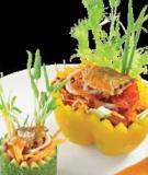 Cá trích trộn rau củ