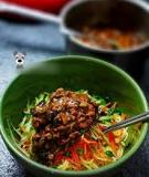 Mì trộn nấm kiểu Hàn cho ngày nóng