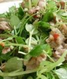 Nộm rau càng cua trộn thịt bò chua ngọt