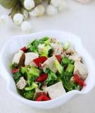 Salad đậu phụ dưa chuột