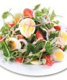 Rau càng cua trộn trứng và yaourt