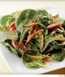 Salad bi-na với xốt gừng