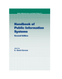 Handbook of Public Information Systems Second Edition