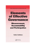 Elements of Effective Governance Measurement, Accountability and Participation