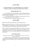 """CỦA BỘ TRƯỞNG BỘ Y TẾ 3121/2001/QĐ-BYT NGÀY 18 THÁNG 7 NĂM 2001 VỀ VIỆC BAN HÀNH """"QUY CHẾ ĐĂNG KÝ THUỐC"""""""