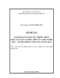 TIỂU LUẬN:VẬN DỤNG NGUYÊN TẮC THỐNG NHẤT GIỮA LÝ LUẬN VÀ THỰC TIỄN CỦA CHỦ NGHĨA MÁC-LENIN TRONG CÔNG TÁC GIẢNG DẠY