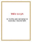Tiểu luận đề tài : TƯ TƯỞNG HỒ CHÍ MINH VỀ GIÁO DỤC THANH NIÊN