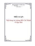 Tiểu luận: Nội dung tư tưởng Hồ Chí Minh về đạo đức