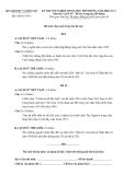 KỲ THI TỐT NGHIỆP TRUNG HỌC PHỔ THÔNG NĂM 2008 LẦN 2 Môn thi: LỊCH SỬ - Bổ túc trung học phổ thông