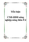 Tiểu luận CNH-HĐH nông nghiệp nông thôn P.4