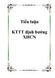 Tiểu luận KTTT định hướng XHCN