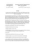 Chỉ thị số 31/2012/CT-UBND