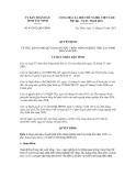 Quyết định số 44/2012/QĐ-UBND