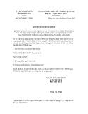 Quyết định đính chính số 2877/QĐĐC-UBND