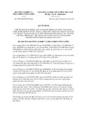 Quyết định số 2406/QĐ-BNN-HTQT