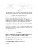 Quyết định số 2286/QĐ-UBND