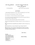 Quyết định số 39/2012/QĐ-TTg