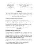 Quyết định số 325/2012/QĐ-UBND