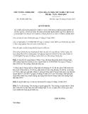 Quyết định số 38/2012/QĐ-TTg