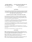 Quyết định số 2496/QĐ-BNN-KHCN