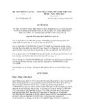 Quyết định số 2729/QĐ-BGTVT