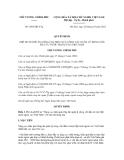 Quyết định số 1601/QĐ-TTg