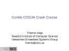 Contiki COOJA Crash Course