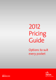 2012  Pricing  Guide  Options to suit every pocket