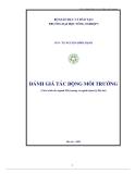 Giáo trình Đánh giá tác động môi trường - PGS.TS. Nguyễn Đình Mạnh