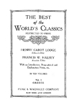 THE BEST of the WORLD'S CLASSICS RESTRICTED TO PROSE