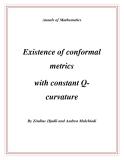 "Đề tài "" Existence of conformal metrics with constant Qcurvature """