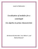"""Đề tài """" Localization of modules for a semisimple Lie algebra in prime characteristic """""""