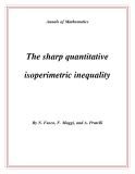 "Đề tài "" The sharp quantitative isoperimetric inequality """