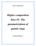 "Đề tài "" Higher composition laws IV: The parametrization of quintic rings """