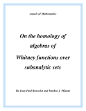 "Đề tài "" On the homology of algebras of Whitney functions over subanalytic sets """