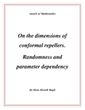 """Đề tài """" On the dimensions of conformal repellers. Randomness and parameter dependency """""""