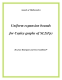 """Đề tài """"  Uniform expansion bounds for Cayley graphs of SL2(Fp) """""""