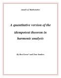 "Đề tài "" A quantitative version of the idempotent theorem in harmonic analysis """