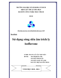 Luận Văn : Sử Dụng Sóng Siêu Âm Trích Ly Isoflavone