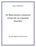 "Đề tài "" The Brjuno function continuously estimates the size of quadratic Siegel disks """
