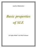"""Đề tài """" Basic properties of SLE """""""