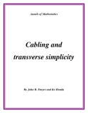 "Đề tài ""  Cabling and transverse simplicity """