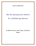 "Đề tài "" The Tits alternative for Out(Fn) II: A Kolchin type theorem """