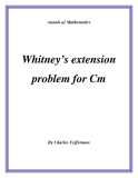 "Đề tài "" Whitney's extension problem for Cm """