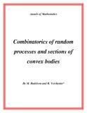 """Đề tài """" Combinatorics of random processes and sections of convex bodies """""""