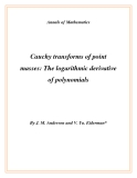 """Đề tài """" Cauchy transforms of point masses: The logarithmic derivative of polynomials """""""