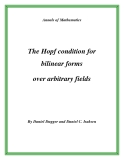 "Đề tài ""  The Hopf condition for bilinear forms over arbitrary fields """
