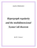 "Đề tài ""  Hypergraph regularity and the multidimensional Szemer´edi theorem """