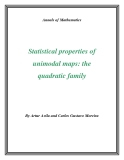 "Đề tài "" Statistical properties of unimodal maps: the quadratic family """