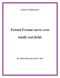 """Đề tài """" Twisted Fermat curves over totally real fields """""""
